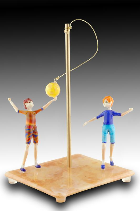 Game On! glass sculpture