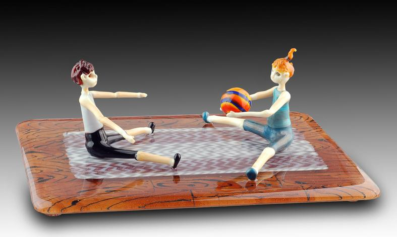 Roly Poly - glass sculpture
