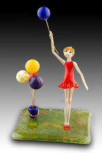Up, Up and Away - glass sculpture
