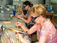 Skills building in glass beadmaking